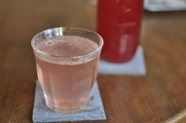 Blood Orange Shrub for mixing with sparkling water for a non-alcoholic apertif