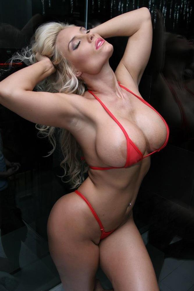Nicole Hampton Thong Bikini Nude