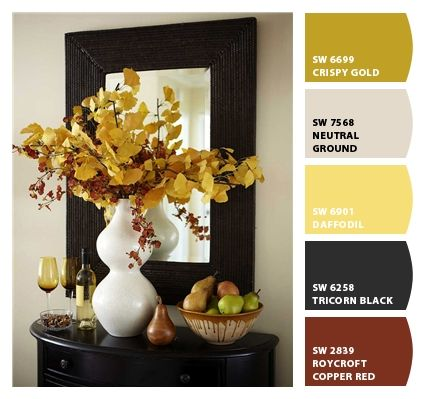 Golden green for Fall decor