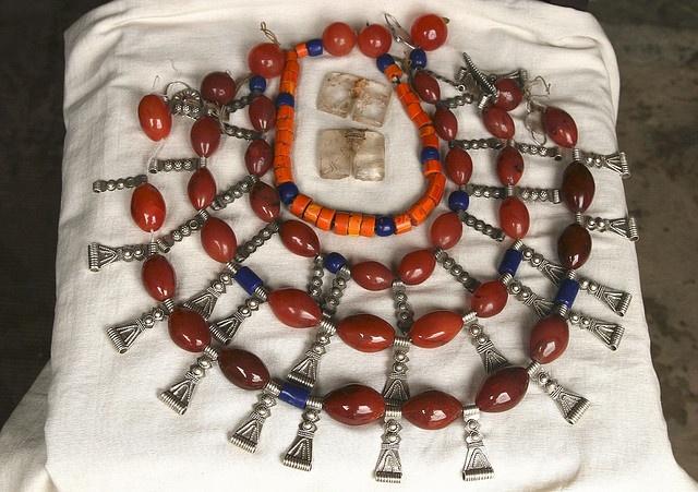India - Nagaland | Jewellery of an Ao Naga woman.