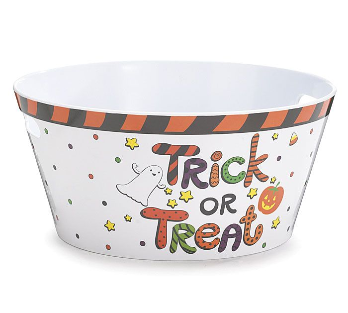 Trick or Treat Melamine Party Tub Halloween #witch #goth #halloween #planter #party