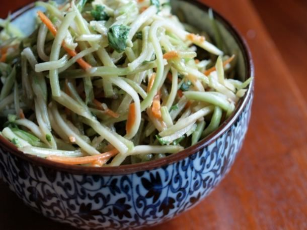 Miso broccoli slaw - what to do with winter greens when summer veggies ...