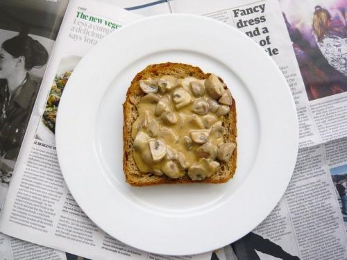 mushroom on toast   Food   Pinterest