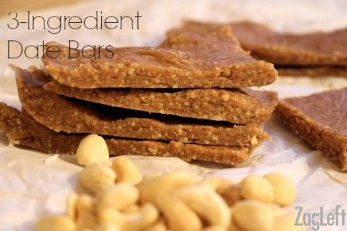 Gluten-Free 3 Ingredient Date Bars | Paleo recipes to try | Pinterest