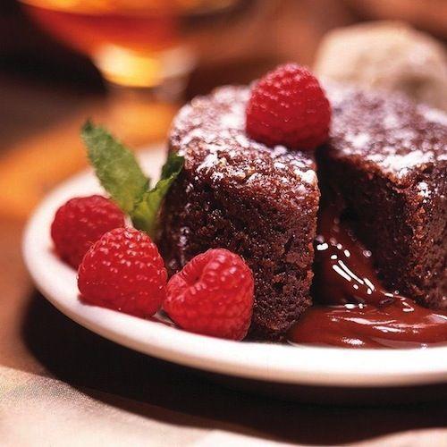 Molten Chocolate #Raspberry #Cake