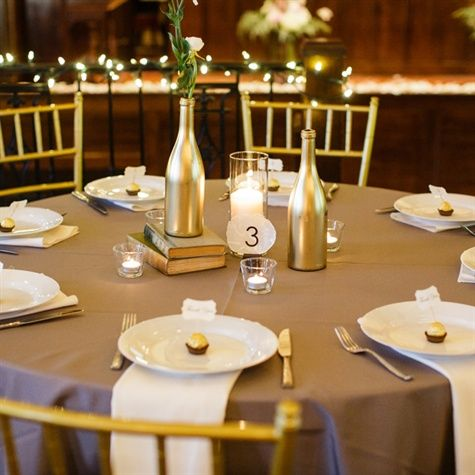 Pinterest discover and save creative ideas for Gold wine bottle centerpieces