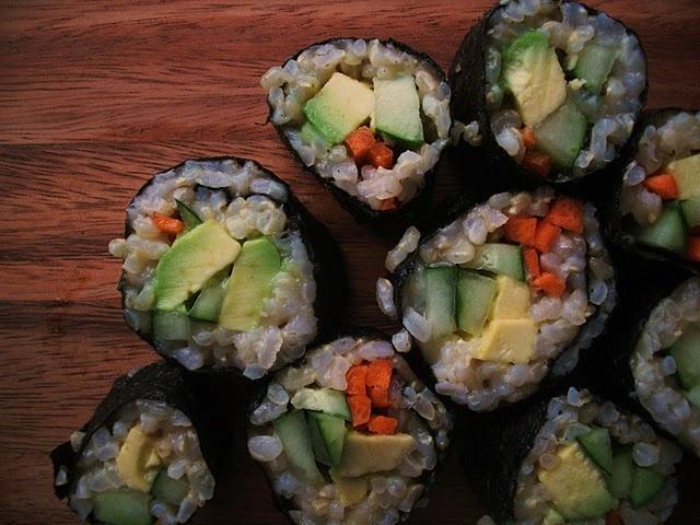 vegetable sushi | Lovely food - sushi | Pinterest