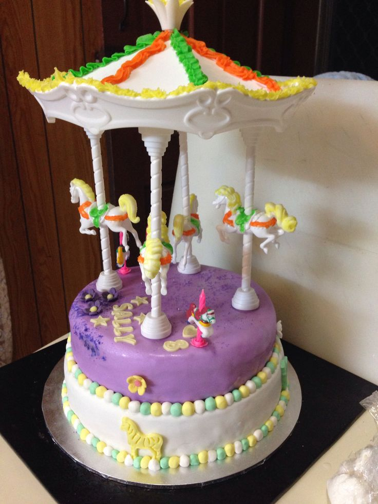 Carousel wilton kit Birthday Cake Horse Cakes Pinterest