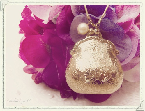 purse locket necklace | all things purple | Pinterest