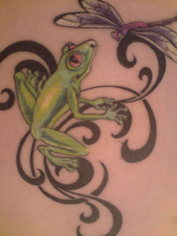 Dragonfly tattoos for women tribal dragonfly tattoo for Celtic frog tattoo designs