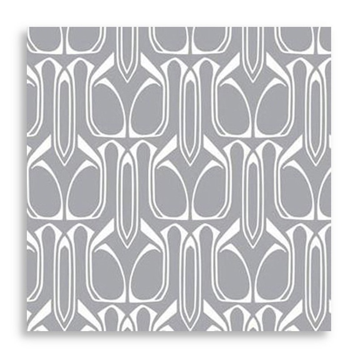 Gio Repositionable Self Adhesive Wallpaper - Silver | Shop at the Foundary