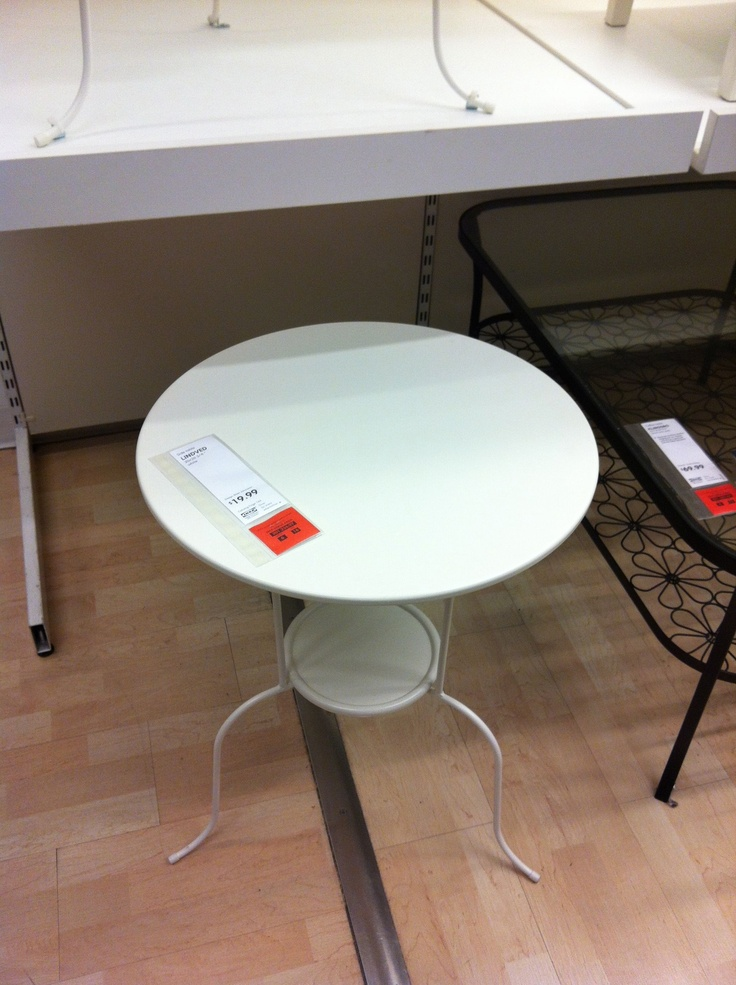 Ikea white metal side table ck collection pinterest for Ikea cocktail table