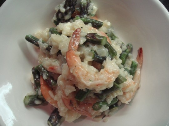 shrimp and asparagus risotto | Recipes I want to try | Pinterest