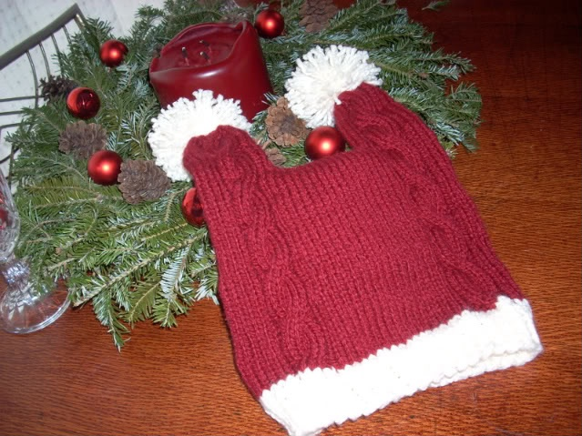 Penny's double-tailed Santa hat from The Big Bang Theory.  I made this and am ready for holidays 2012!