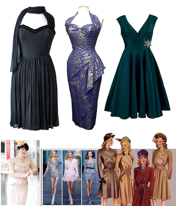 Forties Style Fashion Clothes Pinterest