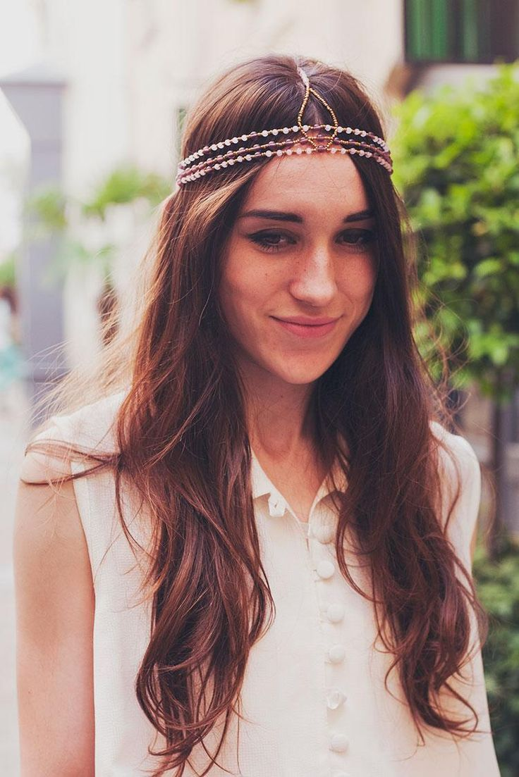 how to make a simple hairstyle at home : DIY Hair Accessories DIY Headband How to Make a Beaded Headband