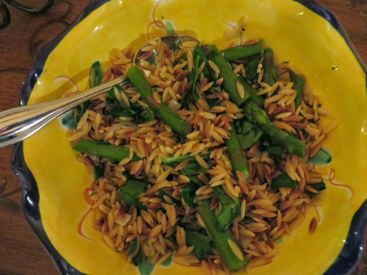 Ever Ready Lemon Orzo Salad with Asparagus, Spinach and Feta recipe ...