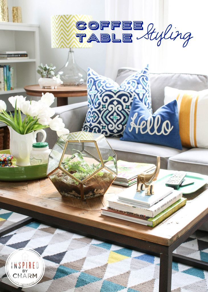 Coffee Table Styling | Learn how to style your coffee table with tips & tricks from Michael Wurm of Inspired by Charm
