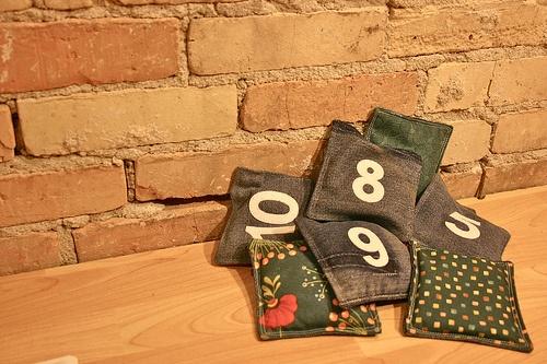 Backyard Scrabble Tiles : bean bags andor outdoor scrabble tiles  Create Uses for Old Denim