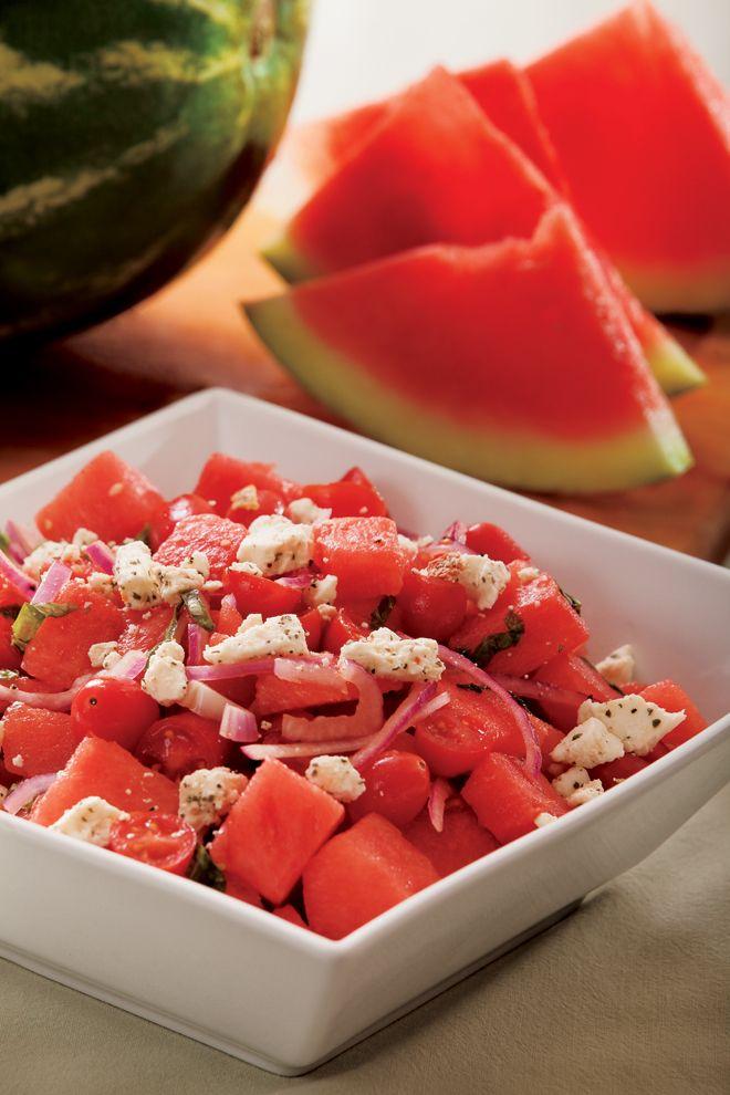 Watermelon Tomato Salad With Feta Cheese | Recipe