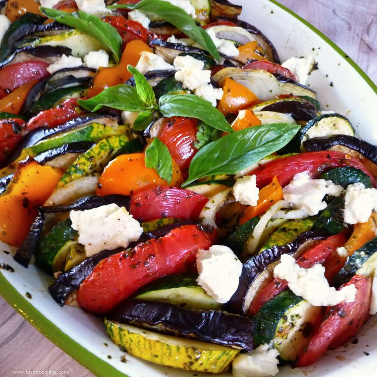 Provençal Vegetable Tian with Goat Cheese and Basil Coulis - Can you ...