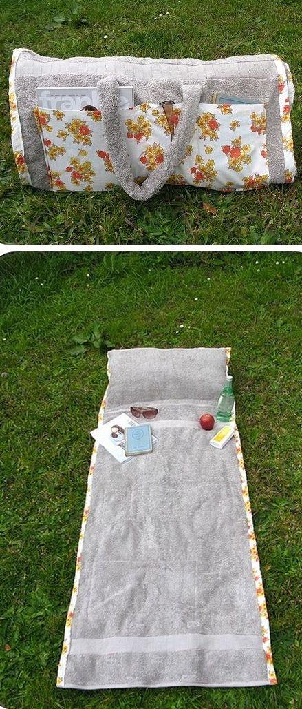 Как сшить пляжную суМастер классу-полотенце своими руками