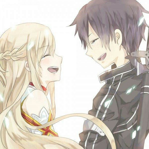 I love how they are married and Kirito still looks at