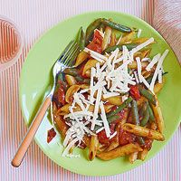 Penne and Green Beans with Burst-Tomatoes and Tarragon Sauce from ...