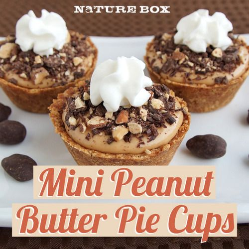 Mini Peanut Butter Pie Cups - sound SO easy! I HAVE to make these soon ...