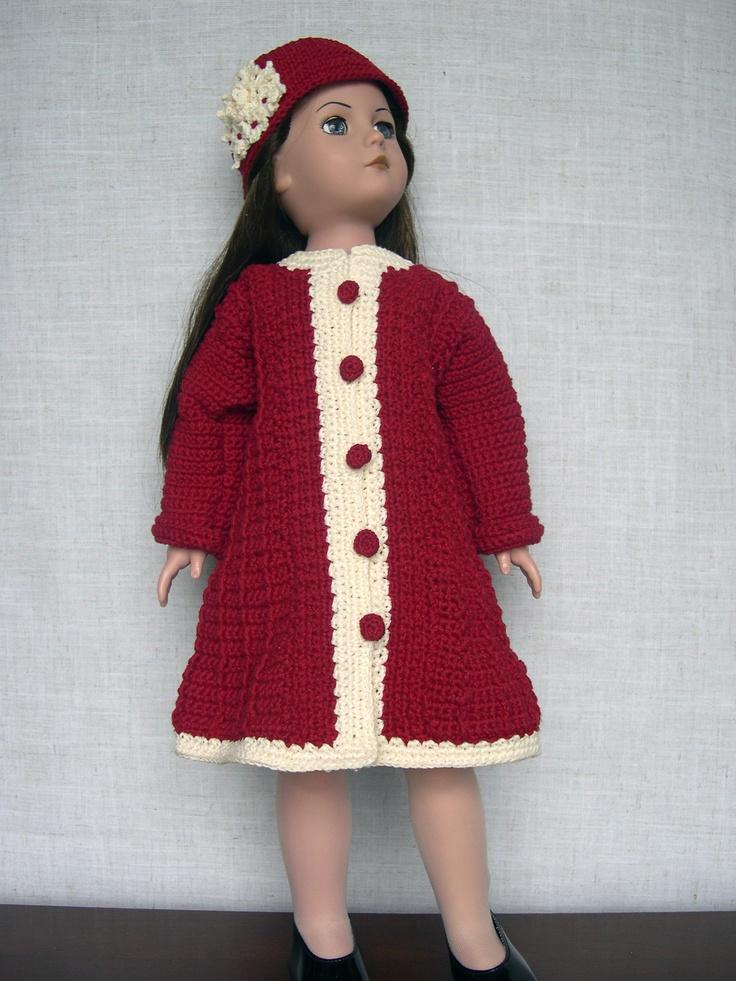 Crochet Dolls Hat Pattern : Pin by Becky Horton on American Girl Doll Crochet Patterns ...