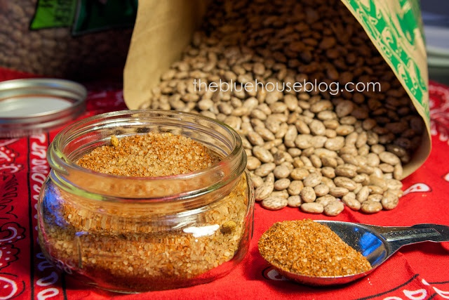 Pinto bean seasoning mix. Also great in chili or for burger seasoning!