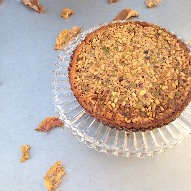 toasted nut tart [happy thanksgiving] | nibble | Pinterest