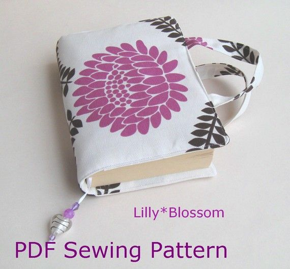 Sewing A Book Cover ~ Pdf sewing pattern make a book bag paperback cover