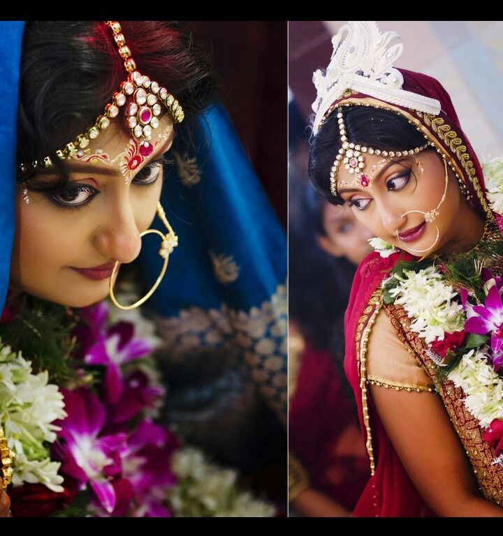 Pretty Bengali bride... So pretty eyes