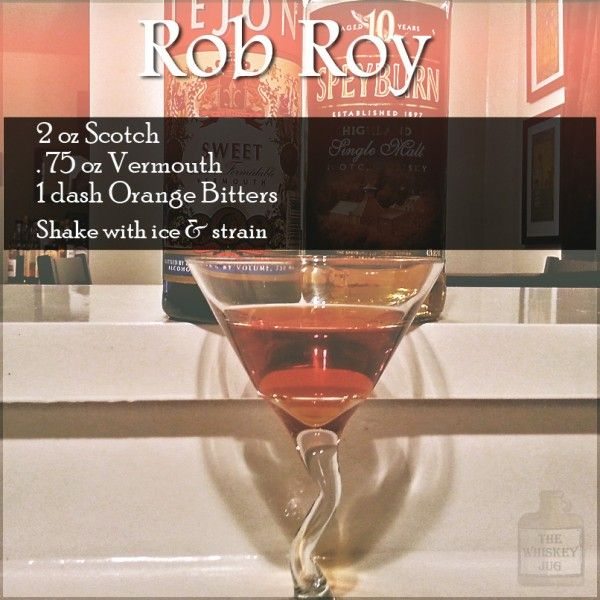 Rob Roy Cocktail | Simple and delicious the Rob Roy came to life well ...