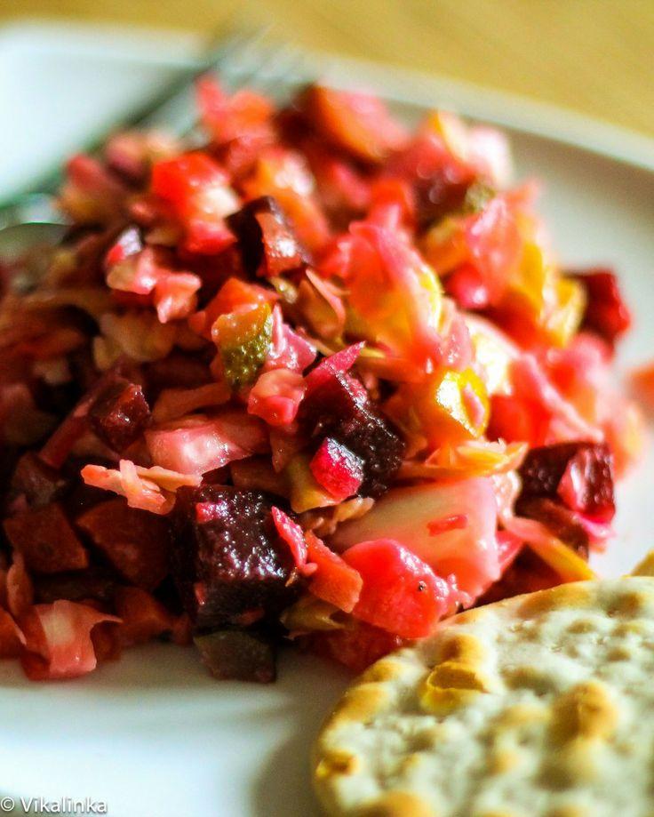 "Russian Coleslaw ""Vinaigrette""- this zingy blend of shredded cabbag..."