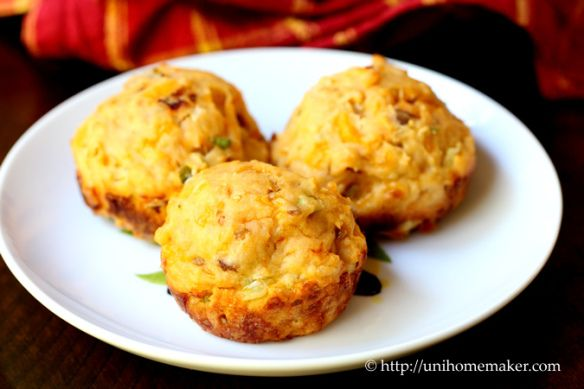 Garlic Chipotle Muffins with Scallions Cheddar & Bacon