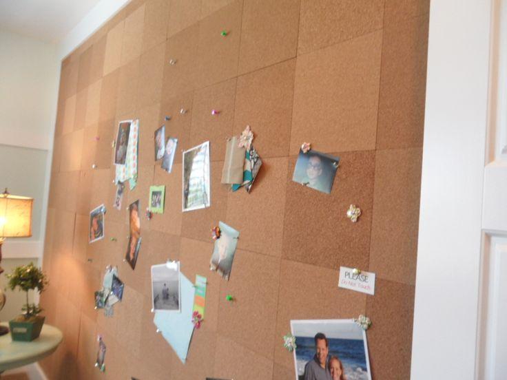 cork board wall craft room ideas pinterest