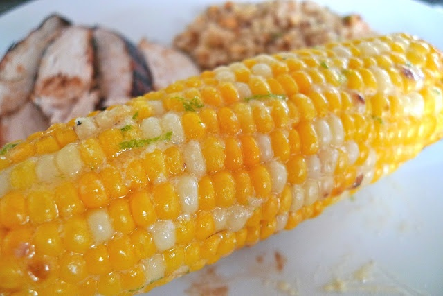 Corn Topping: Manchego Cheese and Lime Butter
