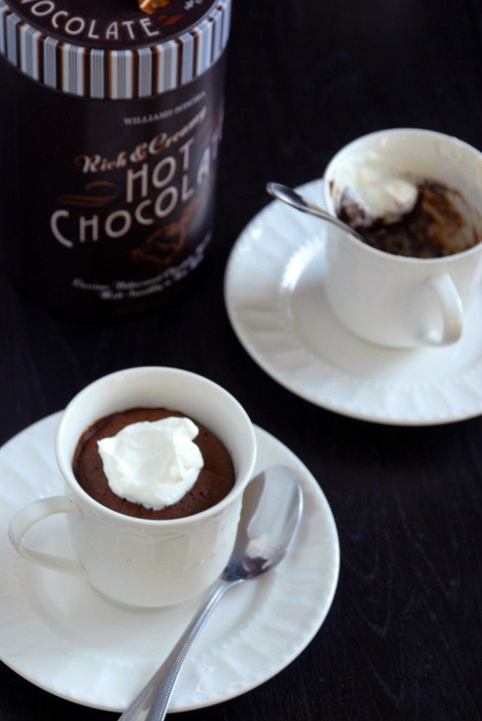 Baked Hot Chocolate...what a neat idea!! Cake on top, molten rich hot ...