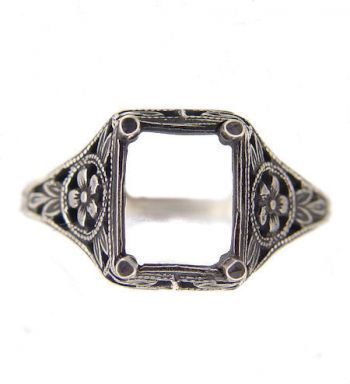 Sterling Silver Victorian Style Ring Mountings