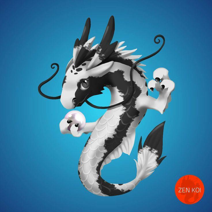 Shiniro bux zen koi dragons pinterest for Koi zen facebook
