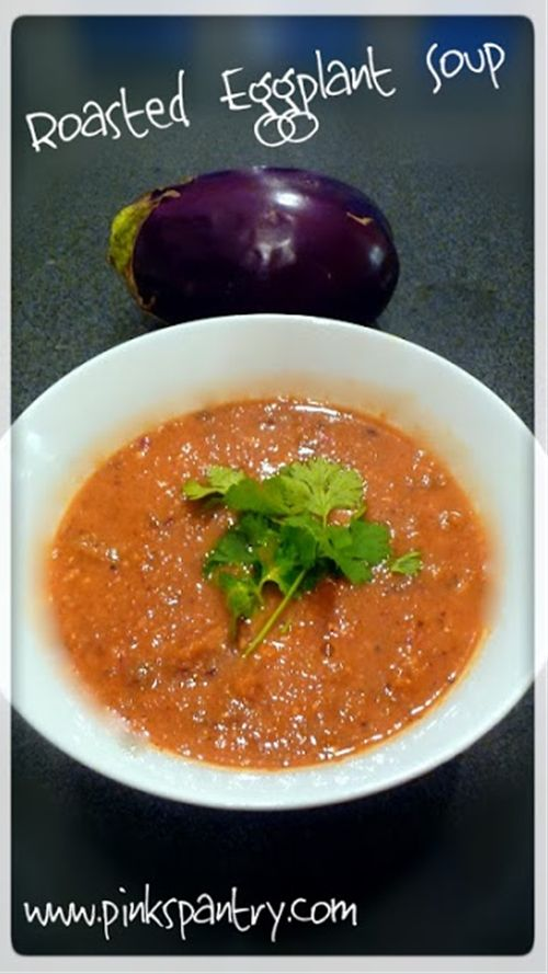 Roasted Eggplant Soup--this is really good/easy! (I think the ...