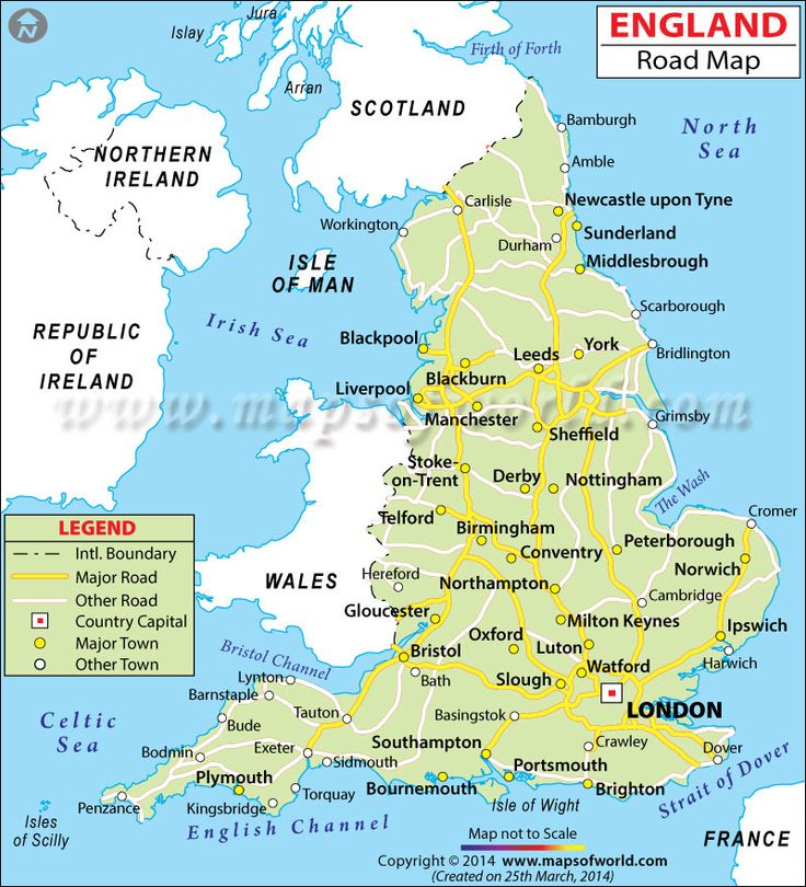 England Road Map   Map...