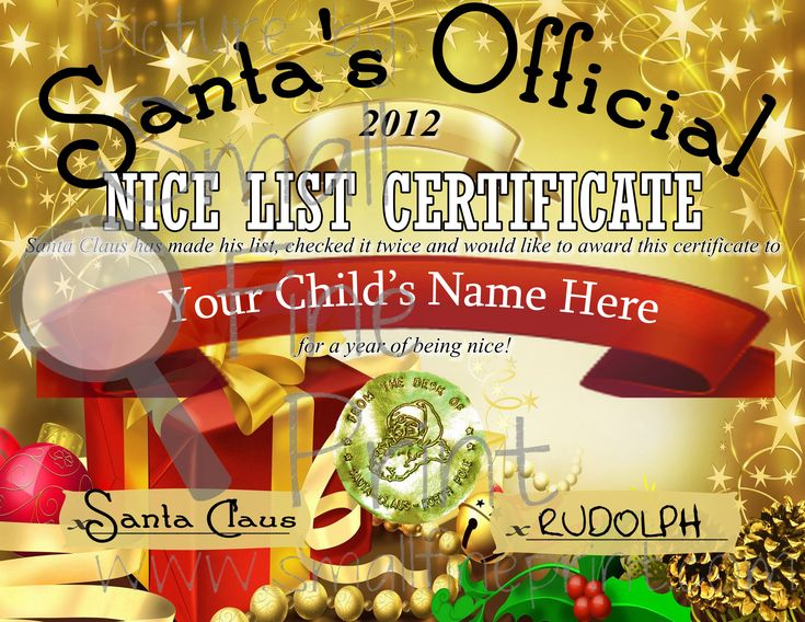 Santa's Nice List Certificate printable + door hanger and tags (free)