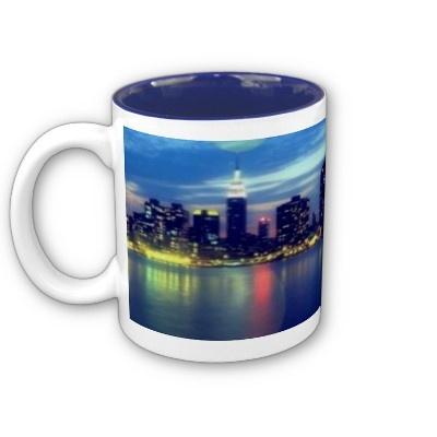 City Lights Mug by elena_indolfi