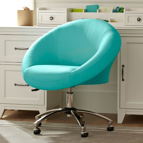Best Sweet Blue Desk Chair Looks Comfy Virtual Seaside Home 400 x 300