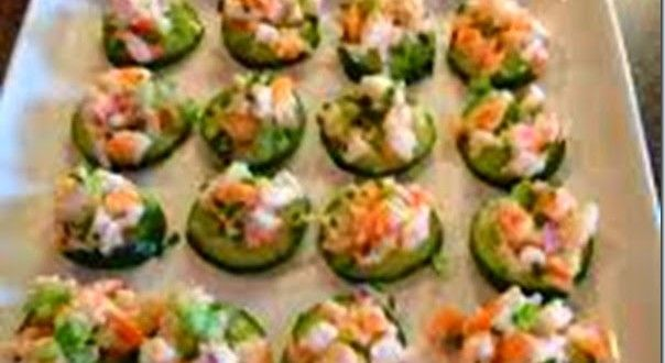 Shrimp Salad on Cucumber Slices Recipe | Healthy Recipes