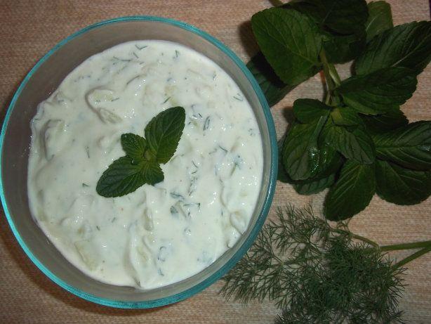 Tzatziki Sauce-- Greek Cucumber/Yogurt Sauce | Recipe
