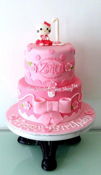 Hello kitty by thevioletcakeshop cakesdecor com cake decorating
